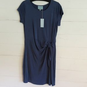 Skies are Blue Side Twisted Knot Dress